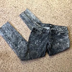 Vans off the wall acid wash jeans, size 1